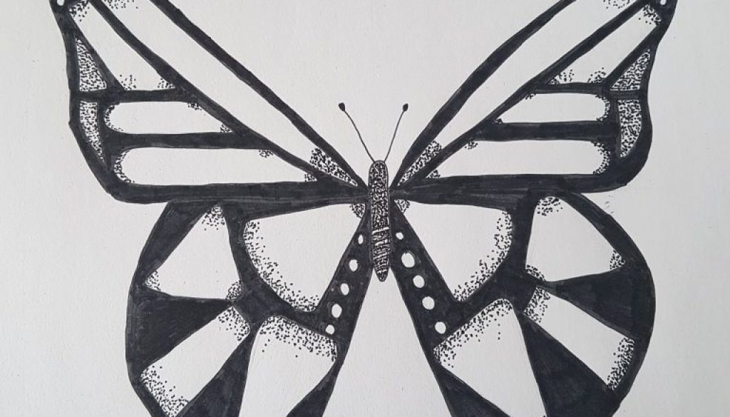 Voorkeur Stap Voor Stap Een Vlinder Leren Tekenen - Nikki Style #CW17