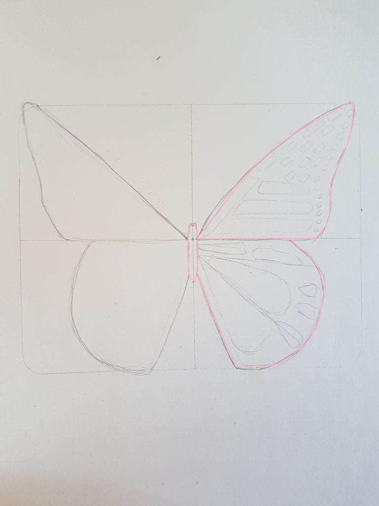 Stap Voor Stap Een Vlinder Leren Tekenen Nikki Style