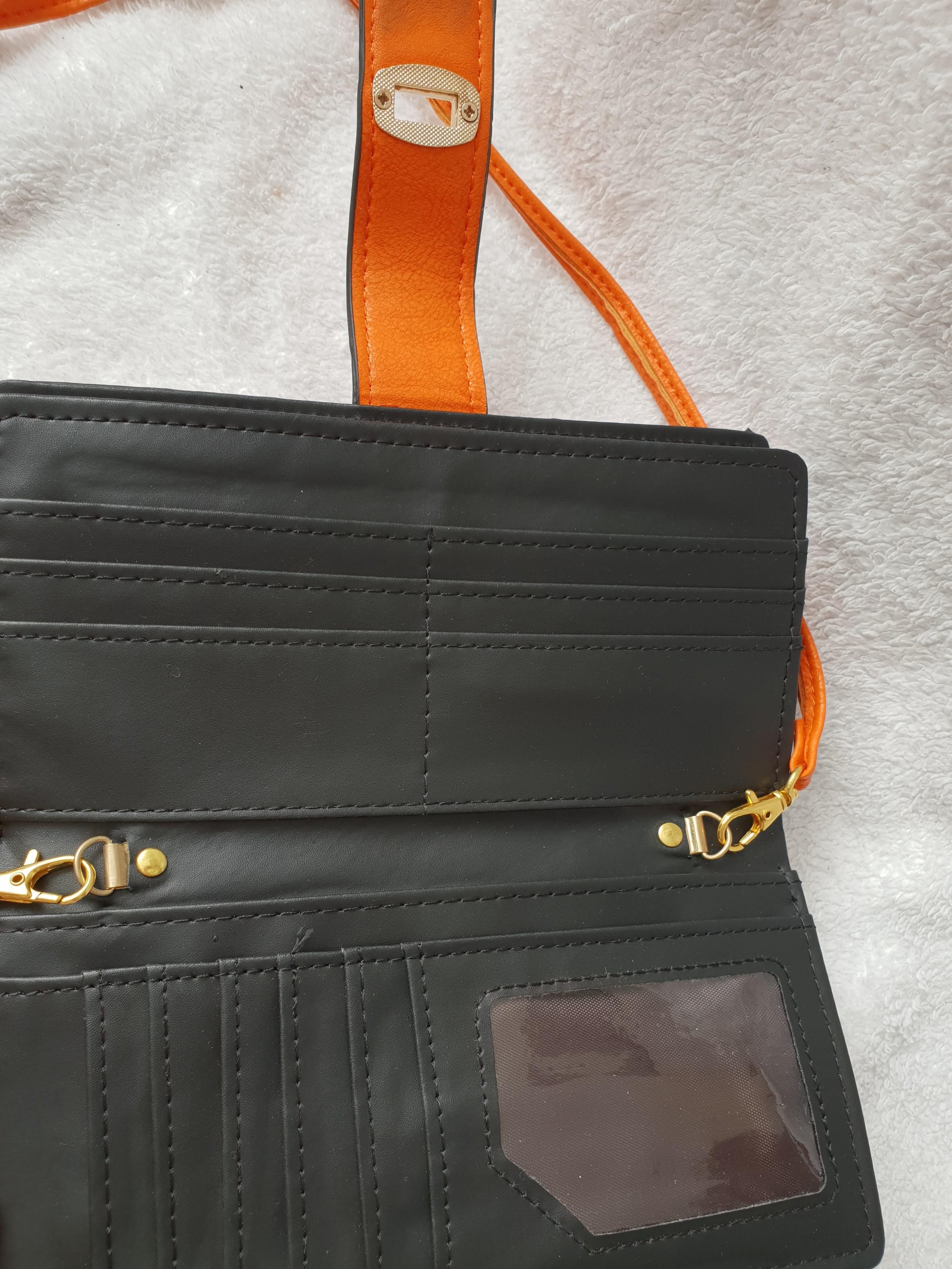 Oranje Zwarte Portemonnee