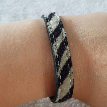 Zebra armband groen 2