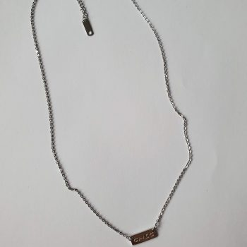 chic ketting zilver
