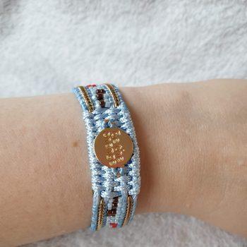 be the change armband blauw