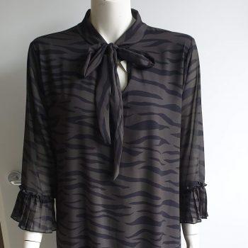 zebra daisy jurk