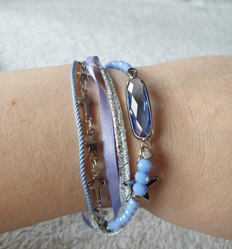 armband ster blauw