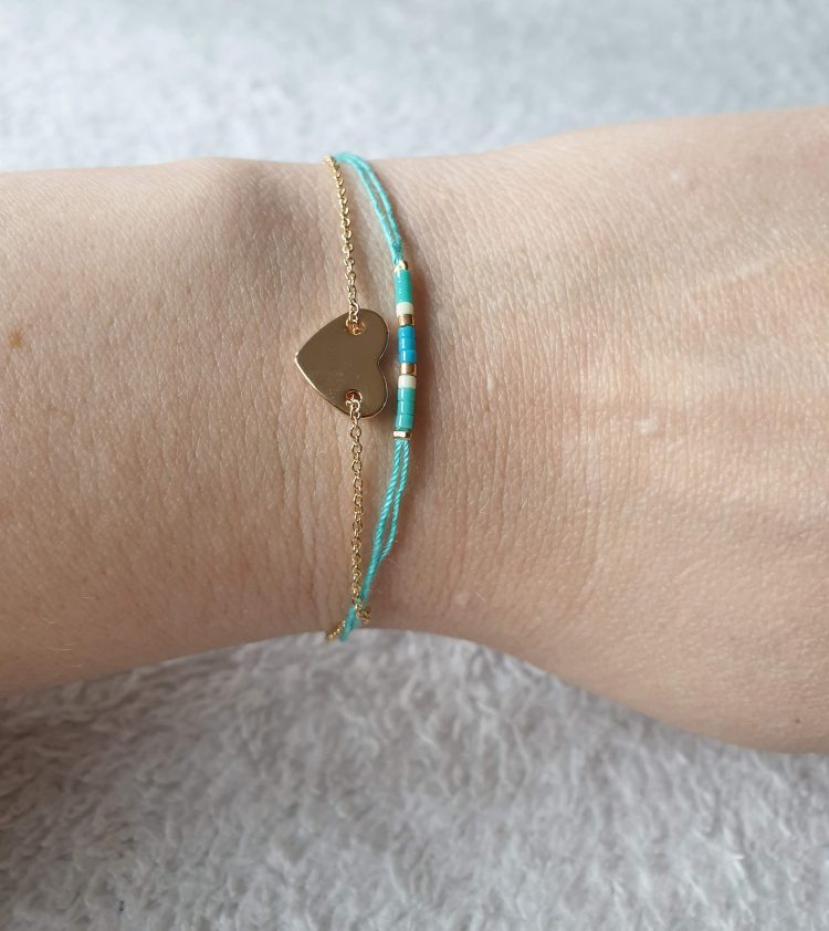 hart armband mint