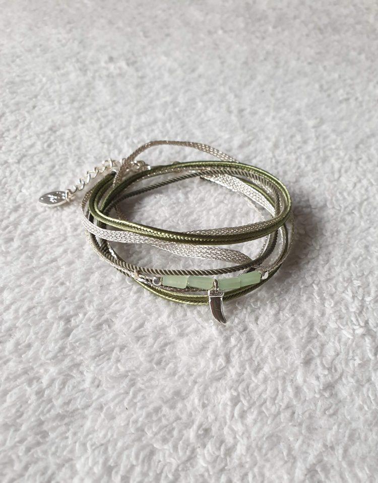 armband zilver groen
