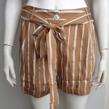 stripes short camel