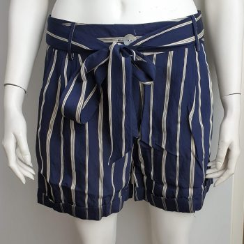 stripes short blauw