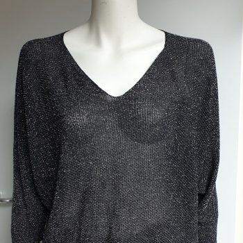 glitter trui zwart