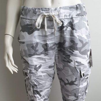 army broek wit grijs