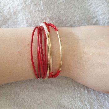 kiki armband rood