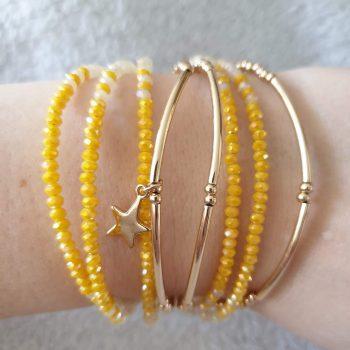 armband geel