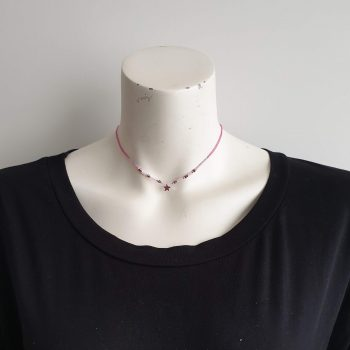 ster ketting roze